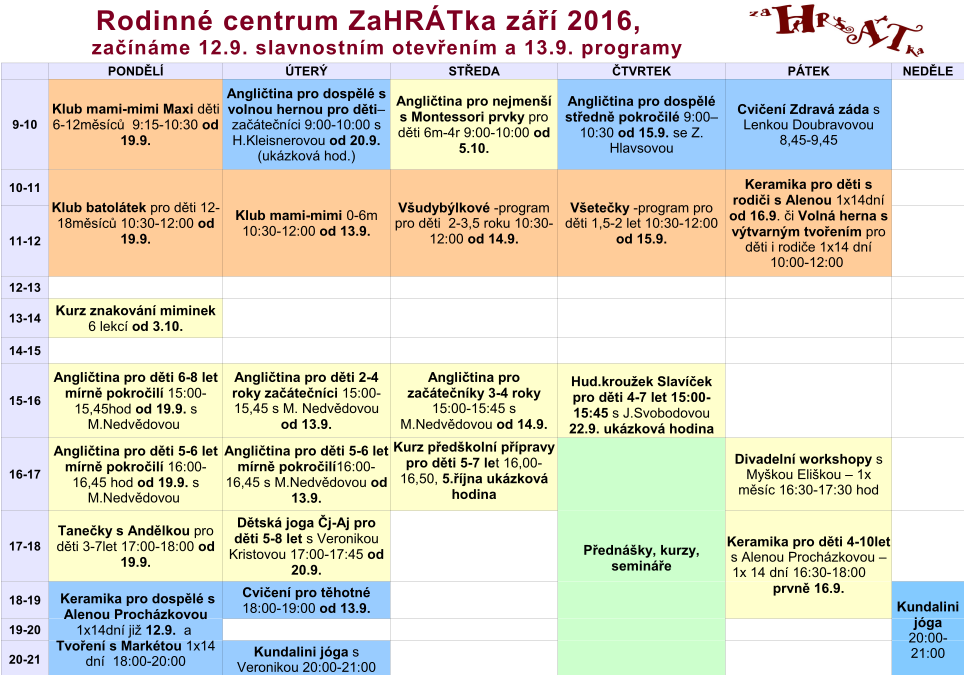 Program 2016-2017 září