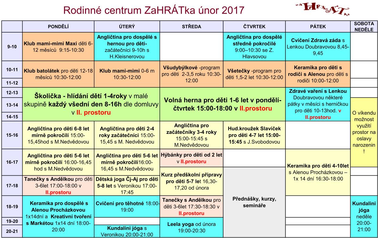 Program 2016-2017 únor