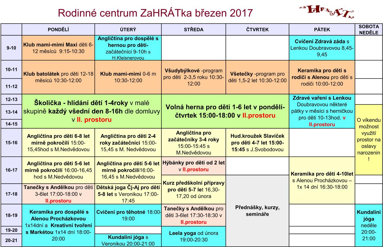 Program 2016-2017 brezen