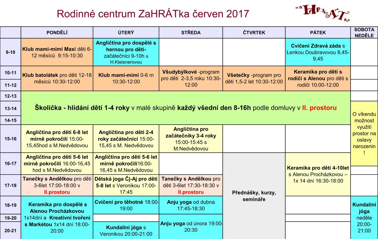 Program 2016-2017 cerven