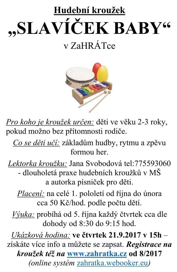 Slavíček BABY zaHRÁTka-2017