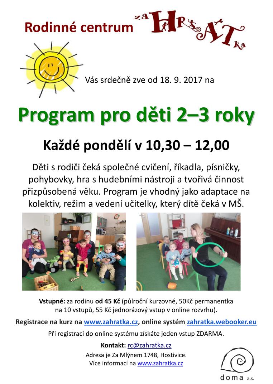 Program pro děti 2-3 roky 2017