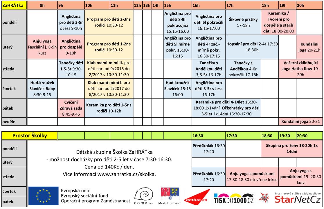 program 2017-2018 září