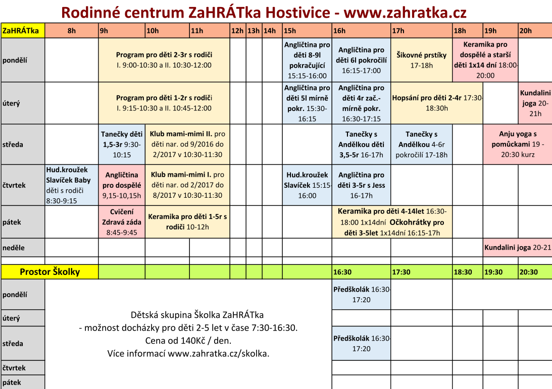 program 2017-2018 prosinec